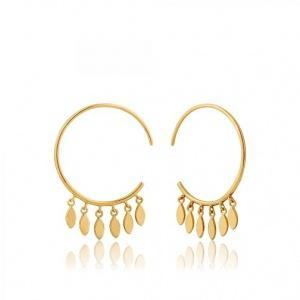 $49.00 Multi-Drop Hoop Earrings Gold