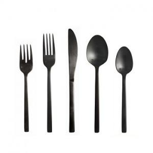 $59.99 Arezzo Black 5Pc Place Setting