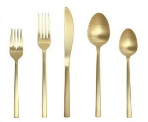 $59.99 Arezzo Gold 5Pc Place Setting