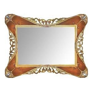 $24.99 Rococco Mirror Tray Tortoise