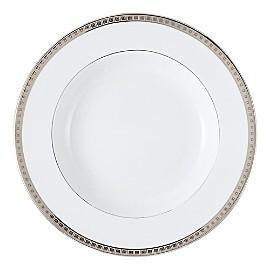 $106.00 Athena Platinum Rim Soup Bowl