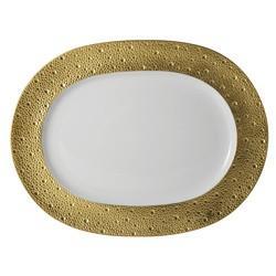 "$457.00 Ecume Gold Platter Oval 13.8"""