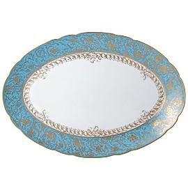 $914.00 Eden Turquoise Platter Oval 13