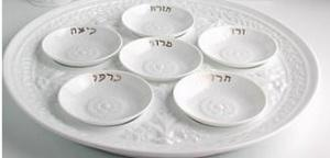 $180.00 Louvre Seder Plate Mini Set/6