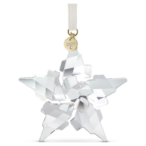 $80.00 2021 Annual Christmas Ornament (large clear / blue triangle box)