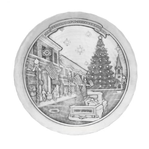 $110.00 2021 Christmas Plate Pewter, limited edition