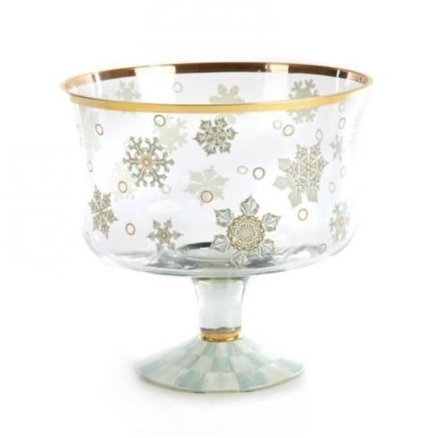 $175.00 MacKenzie-Childs Snowfall Trifle Bowl --- last one - retired!