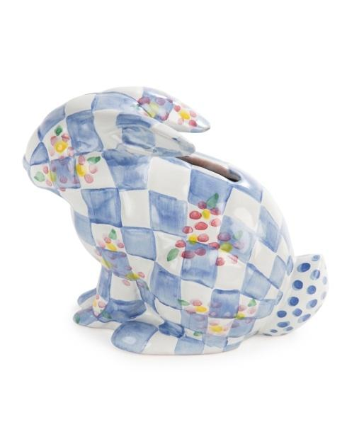 Handcrafted Bunny Bank, Blue -- LAST ONE!!!