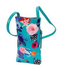 $26.00 Aqua Floral Cell Phone Holder
