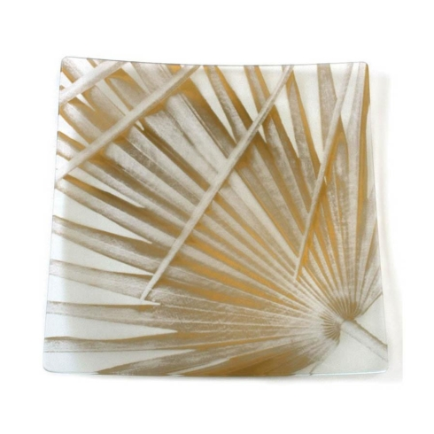 """$39.99 Tropical Palm gold 9"""" square"""