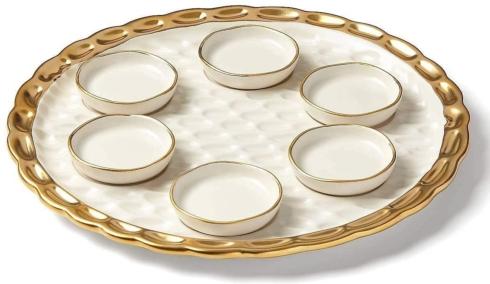 $159.99 Truro Gold Seder Plate