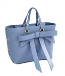 $50.00 Bow Satchel in Blue
