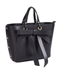 $50.00 Bow Satchel / tote small Black
