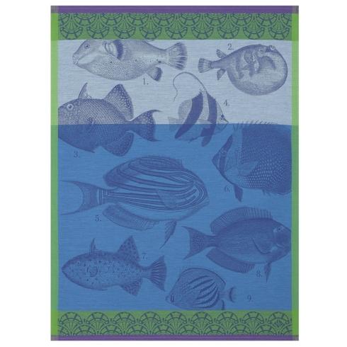 Le Jacquard Francais   Tea Towel Moorea Ocean $25.00