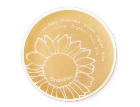 $85.00 Sunflower Plate Grandma