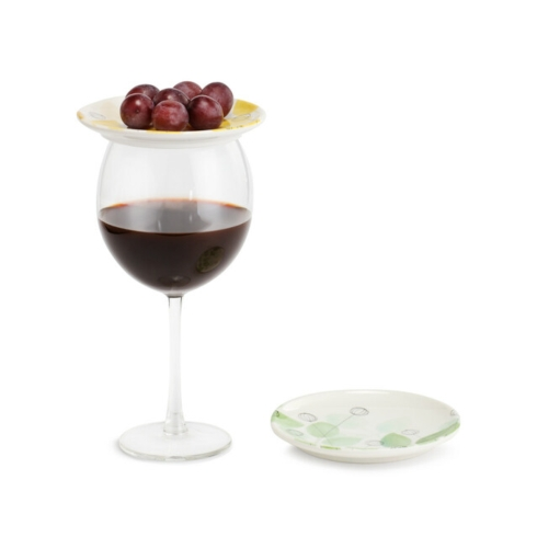 Demdaco   Summer Floral Wine Appetizer Plates - Set of 2 Assorted $17.95