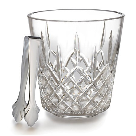 $375.00 Waterford Lismore ice bucket with tongs