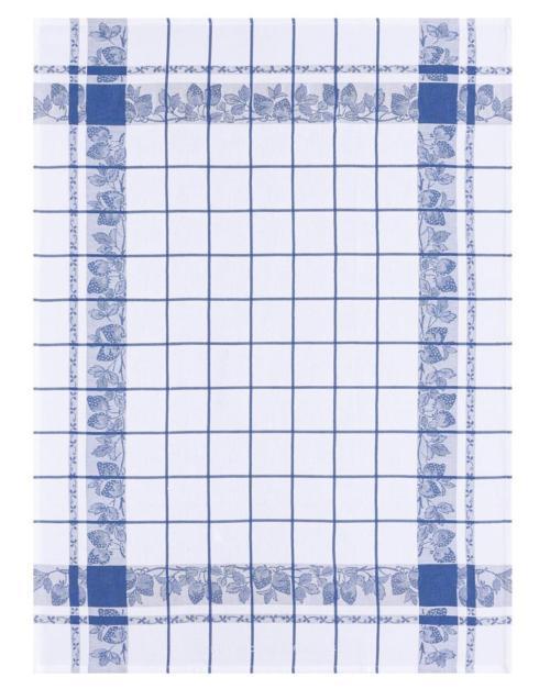 Le Jacquard Francais   Le Jacquard Francais Fraises Tea Towel French blue $25.00