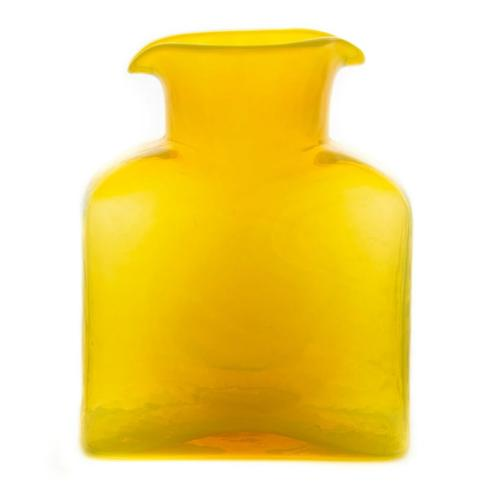 "Water Bottle  8"" Citrine Yellow ""Carafe / Vase """