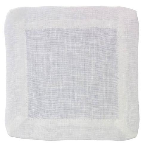 Contemporary Concepts Exclusives   Bodrum ~ Brittany ~ White Cocktail Napkin - Pack Of 4 $24.99