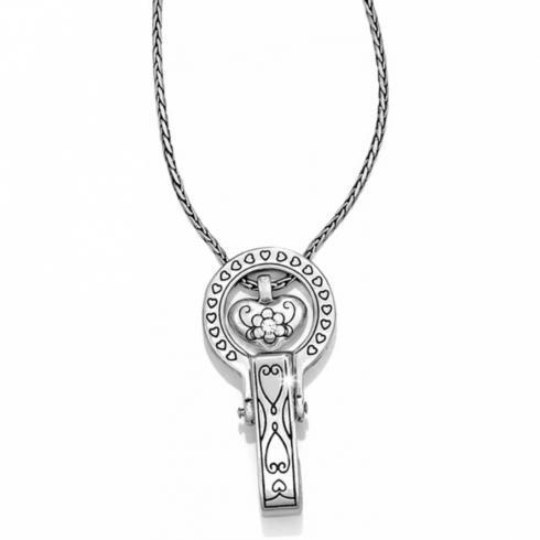 $48.00  Badge Clip Necklace