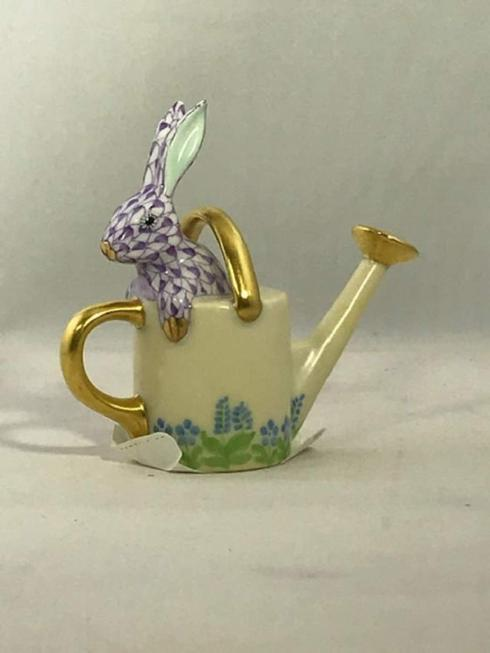 $295.00 Watering can bunny lavender