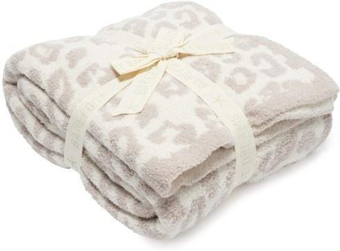 $180.00 Barefoot Dreams CozyChic Barefoot in The Wild Throw Stone/Cream
