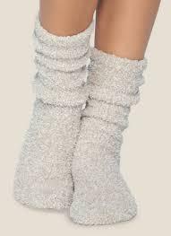 $16.00  CozyChic Women\'s Crew Socks Stone/White