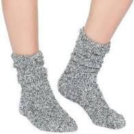 $16.00  CozyChic Women\'s Crew Socks Graphite/White