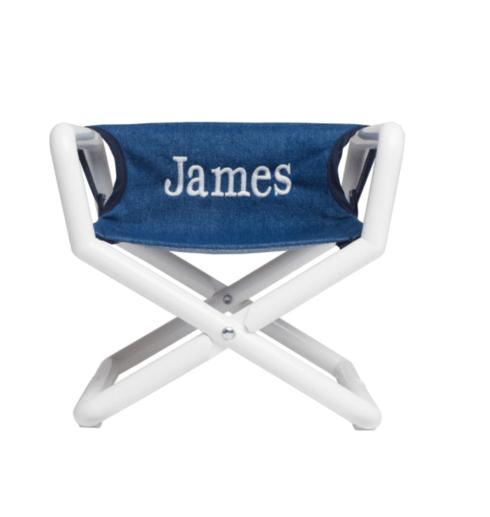 $49.50 Personalized Kids Junior Directors Chair - Denim
