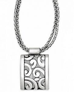 $48.00 J42820 Sil Deco Lace Necklace