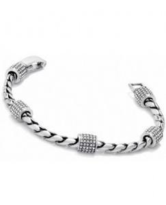 $74.00 J39482 Sil/Stn Meridian Bracel