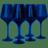 $175.00 Midnight Blue Wine Glasses set/6