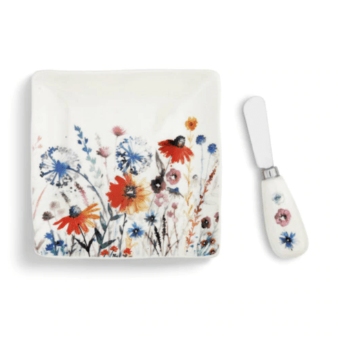 Demdaco   Meadow Flowers Plate W/ Spread $24.99
