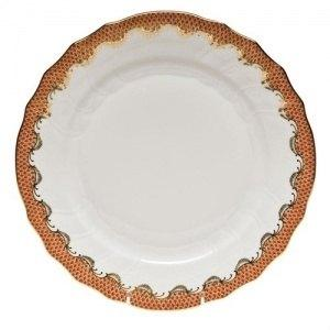 $725.00 Herend Fish Scales Rust Oval Platter 15""