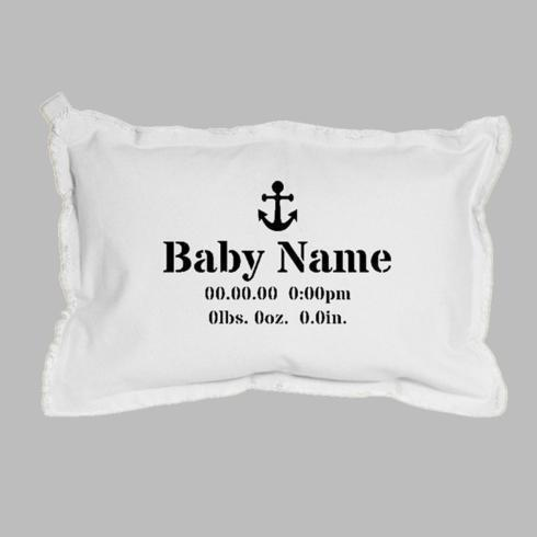 $65.00 Birth Announcement + Icon Lumbar Pillow