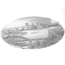 "$49.00 Pittsburgh Skyline Trivet 10"""