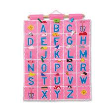 $34.95 ABC Wall Hanging Pink
