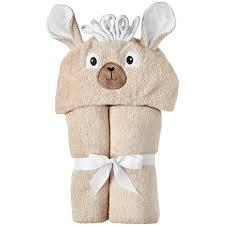 $48.00 LLAMA Hooded Towel  - Embroidery inlcuded