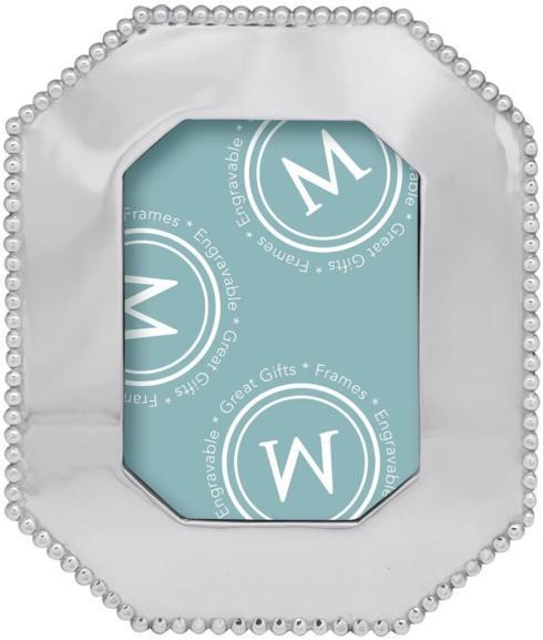 $79.00 Mariposa Pearled Octagonal Frame 5x7