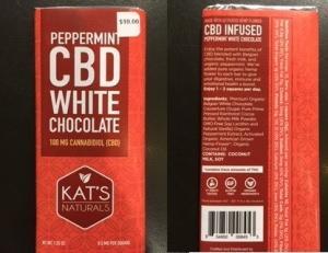 $11.50 Cbd White Chocolate Bar