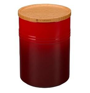 $35.00 Canister W/Lid 22Oz Red