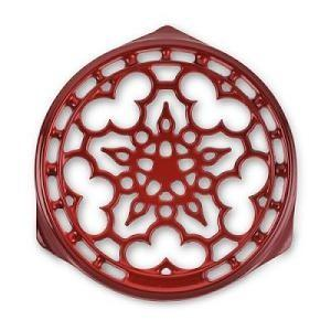 $75.00 Trivet Deluxe Round Red