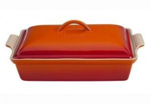 $115.00 Rectangle Covd Cass Orange 4Qt