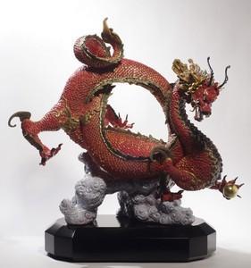 """$10,000.00 Auspicious Dragon (Red) 20"""" H"""