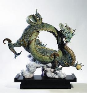 """$10,000.00 Auspicious Dragon (Green) 20"""" H"""