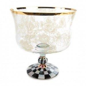 Contemporary Concepts Exclusives   MacKenzie-Childs Blooming Trifle Bowl $175.00