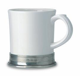$79.00 Convivo Mug (White/Pewter)