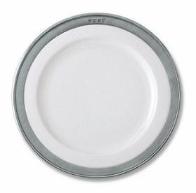 $118.00 White W/ Pewter Dinner Convivi