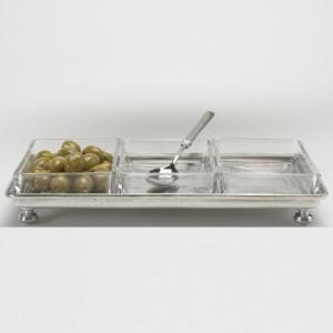 $0.00 Footed Crudite Tray